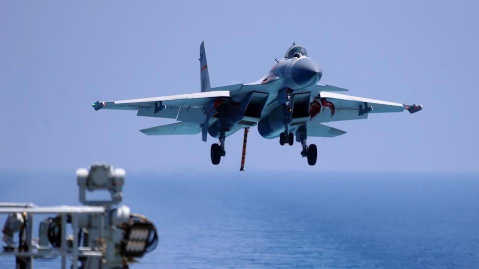 China is working on a new fighter jet for aircraft carriers to replace its J-15s