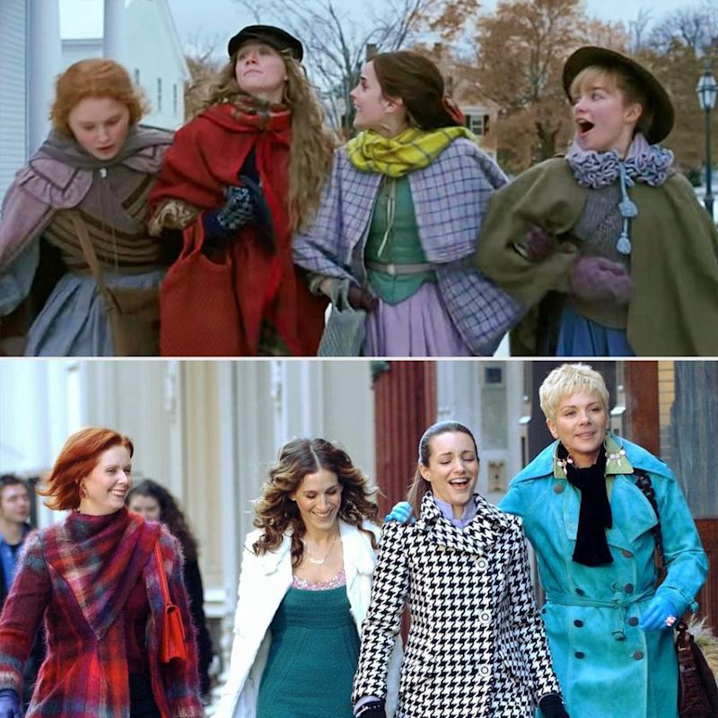 (Top)Little Women, (bottom)Sex and the City   Columbia Pictures; Richard Corkery/NY Daily News Archive via Getty