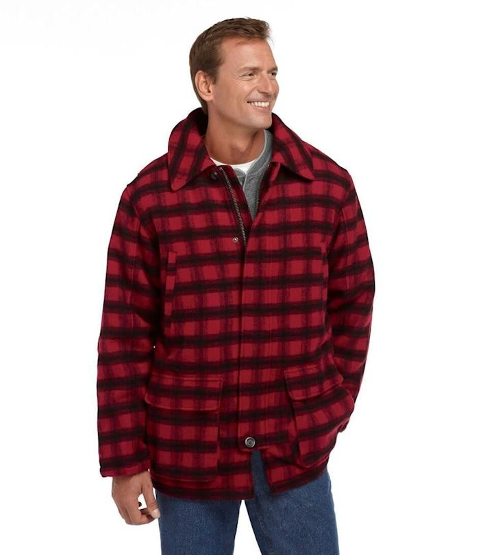 """This jacket comes in sizes L to XXL. <a href=""""https://fave.co/2G2wLbb"""" rel=""""nofollow noopener"""" target=""""_blank"""" data-ylk=""""slk:Find it at L.L. Bean"""" class=""""link rapid-noclick-resp""""><strong>Find it at L.L. Bean</strong></a>."""