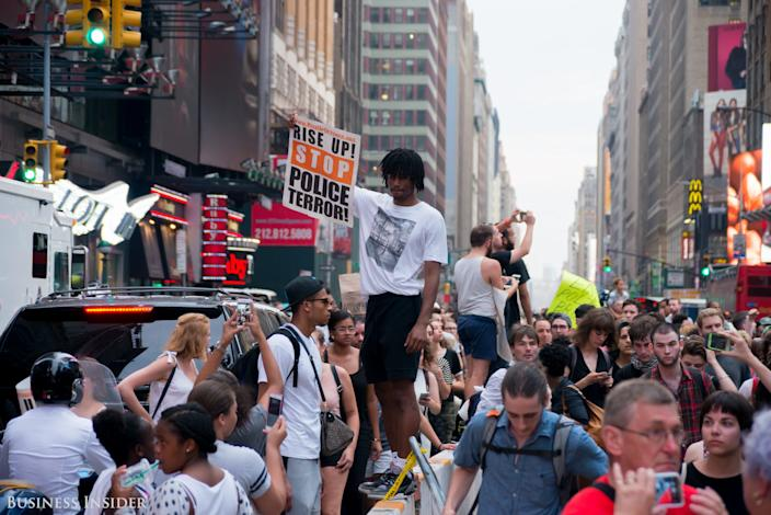 Protesters in New York.