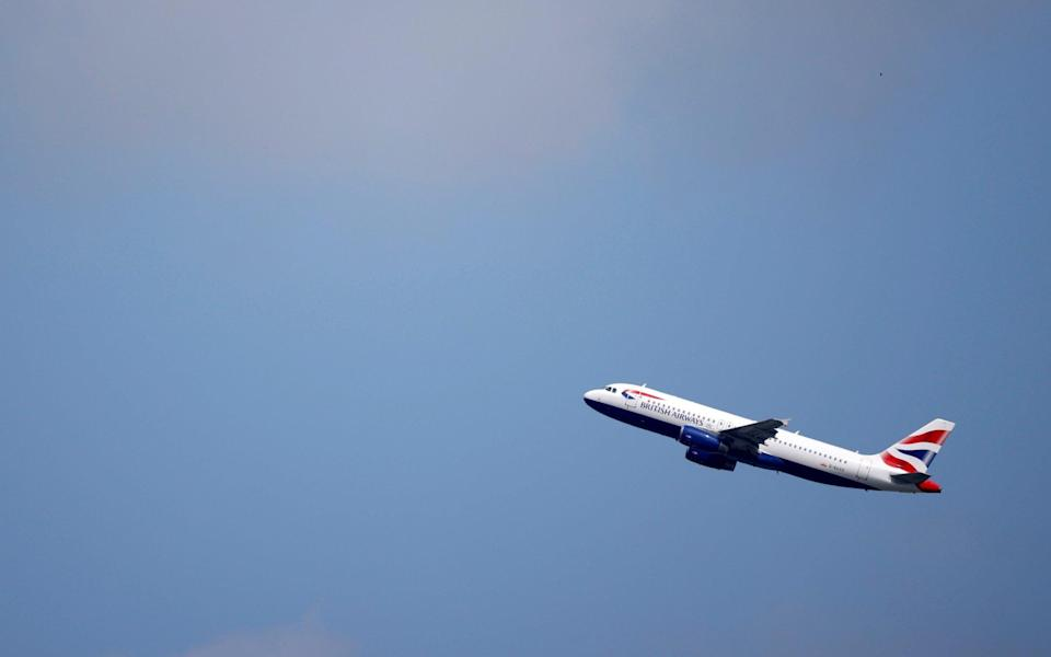 BA Airbus A320 aircraft takes off from Heathrow Airport in London - JOHN SIBLEY/Reuters