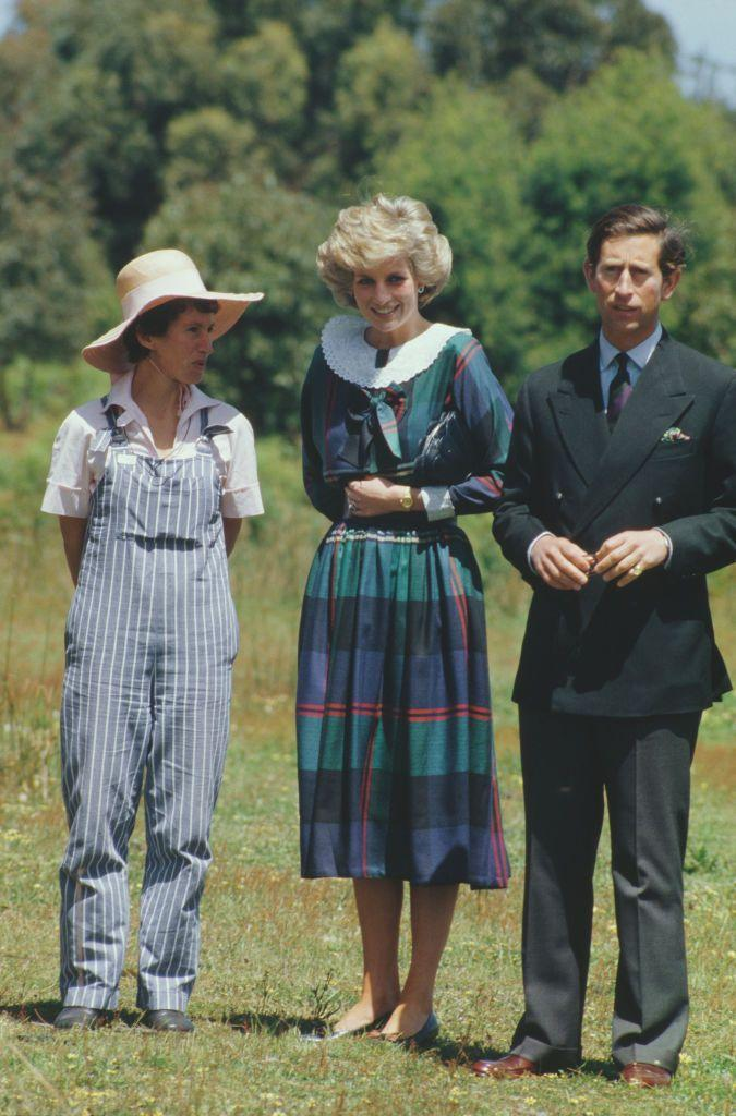 <p>One more rarely seen photo of the Princess in plaid. Here, a photo from the royals' 1985 tour of Australia. </p>