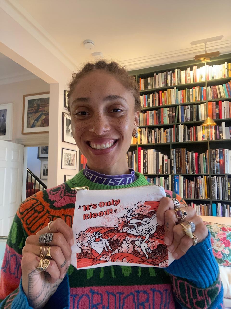 Model Adwoa Aboah turned to her Gurls Talk community for help designing her bag (WaterAid)