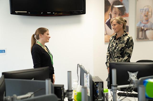 Sophie visited the NSPCC to thank those who worked during the pandemic. (Royal Family)
