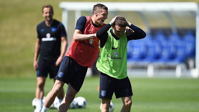 Jamie Vardy can see the spirit of Leicester City's title-winning squad in England's World Cup party.