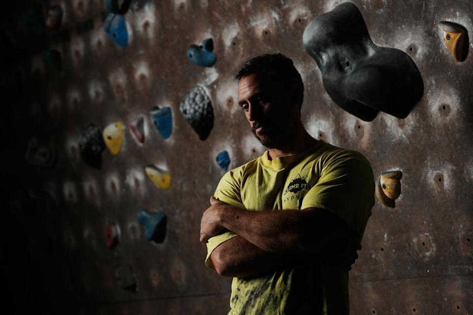 ClimbFit managing director, Robbie Josephsen poses for a photograph in Sydney.