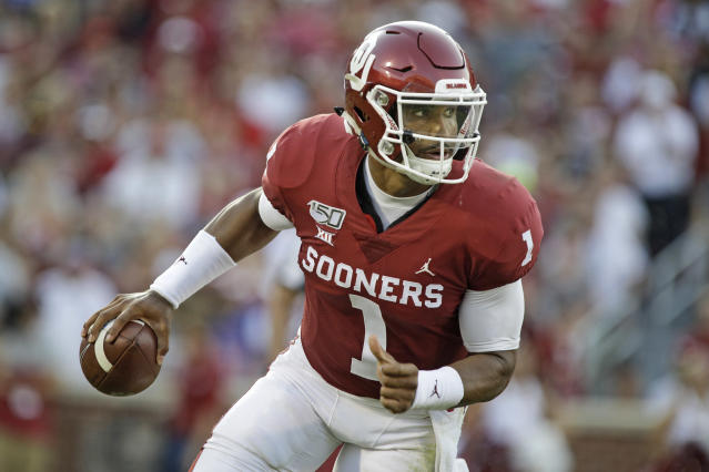 The nation's most efficient quarterbacks thus far have all experienced major change since last season, led by Oklahoma's Jalen Hurts. (Getty)