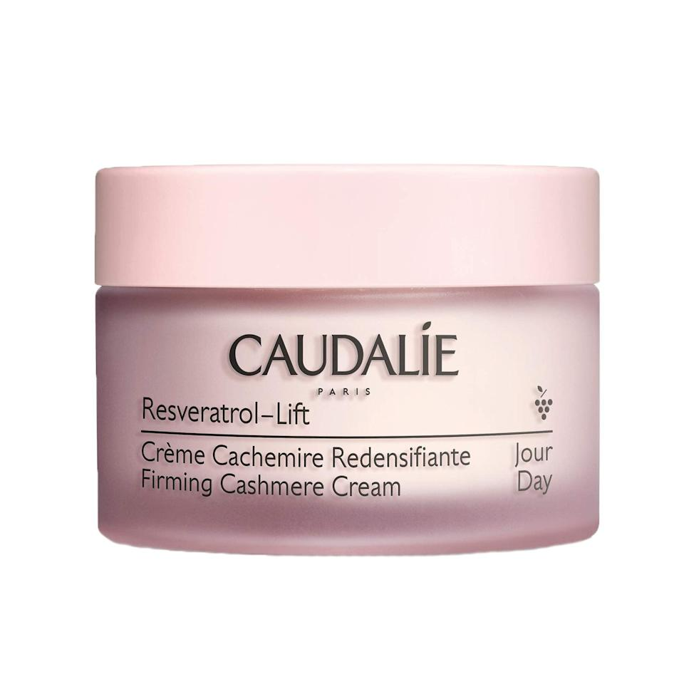 """<h3>Caudalie Cashmere Cream<br></h3><br>Sure, a cashmere scarf or sweater is divine — but what about a cushion-y soft face cream that makes her morning that much more luxe?<br><br><strong>Rating:</strong> 4.3 out of 5 stars, and 59 reviews<br><br><strong>A Satisfied Customer Review: </strong>""""I can't begin to describe how incredibly moisturizing and luxurious this cream feels. My first time using it and I was hooked. It settles right into the skin and hydrates like nothing before. The scent is a gorgeous earthy grape without being fake. Caudalie is known for its natural approach to skincare and for that reason I love this brand. I had used their hand cream and lip balm before and thought them to be exceptional but this blew me out of the water.""""<br><br><strong>Caudalie</strong> Resveratrol-Lift Firming Cashmere Cream, $, available at <a href=""""https://amzn.to/2PQ3HMQ"""" rel=""""nofollow noopener"""" target=""""_blank"""" data-ylk=""""slk:Amazon"""" class=""""link rapid-noclick-resp"""">Amazon</a>"""
