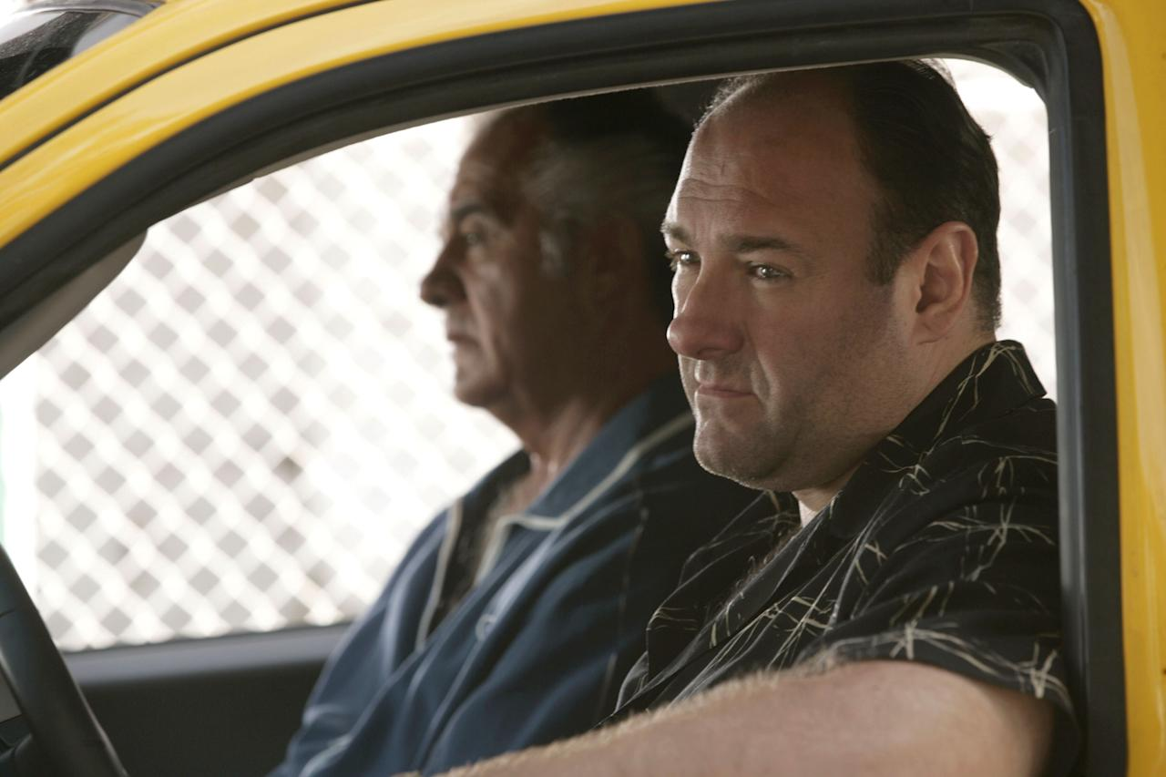 THE SOPRANOS, Tony Sirico, James Gandolfini, 'Remember When' (Season 6, season 80, April 22, 2007), 1999-2007, photo: © HBO / courtesy Everett CollectionHN