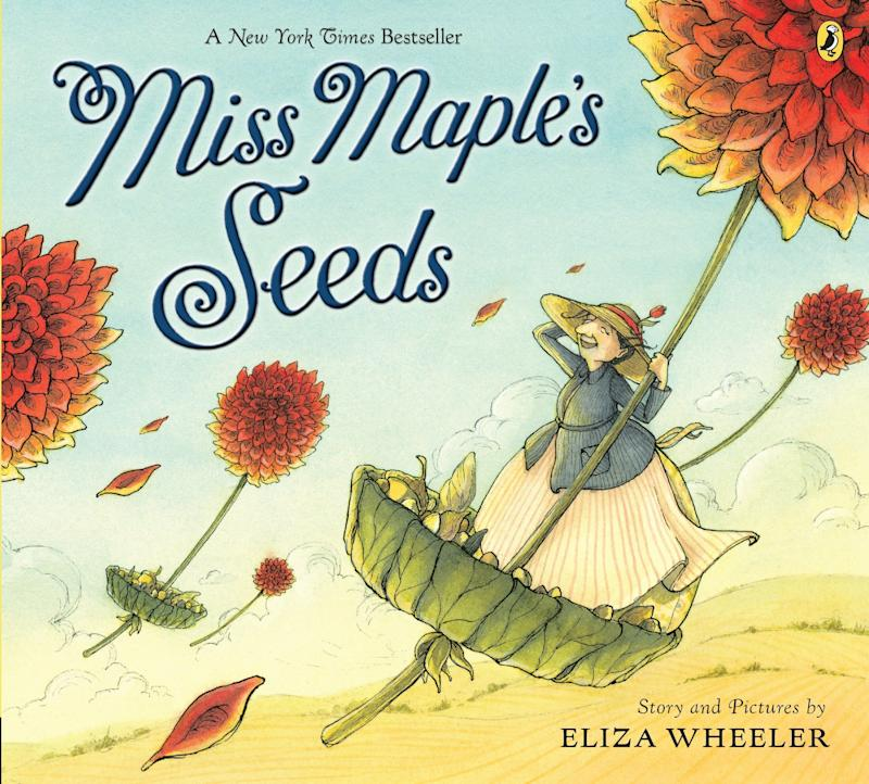 "This New York Times bestseller is about a little woman who gathers abandoned seeds and nurtures them into beautiful plants. <i>(Available <a href=""https://www.amazon.com/Miss-Maples-Seeds-Eliza-Wheeler/dp/0399257926"" target=""_blank"" rel=""noopener noreferrer"">here</a>)</i>"