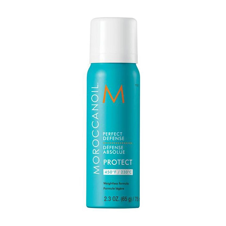"""<p><strong>MOROCCANOIL</strong></p><p>sephora.com</p><p><strong>$18.00</strong></p><p><a href=""""https://go.redirectingat.com?id=74968X1596630&url=https%3A%2F%2Fwww.sephora.com%2Fproduct%2Fperfect-defense-P425242&sref=https%3A%2F%2Fwww.bestproducts.com%2Fbeauty%2Fg379%2Fheat-protection-spray-for-styled-hair%2F"""" target=""""_blank"""">Shop Now</a></p><p>Give your luscious locks the treatment they deserve with MOROCCANOIL's heat-styling protection spray. Not only does the soft-hold spray leave a glossy finish, but it also helps protect against color fade — we know how pricey those highlight touch-ups can be!</p>"""