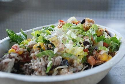 """<div class=""""caption-credit""""> Photo by: Flickr</div><div class=""""caption-title""""></div><b>Chipotle</b> <br> It's not """"fast-food"""" per se, but Chipotle has long been one of my favorite quick options. While it isn't the lowest-calorie choice out there, you can trust that the ingredients are fresh, and you actually know what is coming in your bowl, burrito, or salad. <br> <b>Try:</b> You can get a bowl with brown rice, chicken, black beans, fajita veggies, tomato salsa, and green tomatillo salsa for 525 calories. Keep in mind though that calorie counts can vary depending on who is scooping up the goods, so don't hesitate to ask for staff to go light on rice. <br> <b>Avoid:</b> The flour tortilla. At 290 calories, it'll take your meal to high-calorie territory in a hurry. <br> <b><i><a rel=""""nofollow"""" href=""""http://www.babble.com/best-recipes/20-gross-disturbing-food-facts-youll-wish-you-didnt-know/?cmp=ELP bbl  YahooShine  InHouse 091813 WhattoEatandAvoidat12TopFastFoodRestaurants  famE """">Related: 20 gross, disturbing food facts you'll wish you didn't know</a></i></b>"""