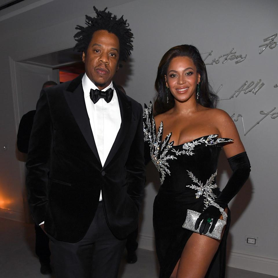 Our favorite Jay-Z: long, twisted-up dreadlocks and a classic tuxedo.