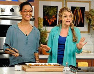 """The Chew"" hosts Carla Hall and Daphne Oz (ABC/Donna Svennevik)"