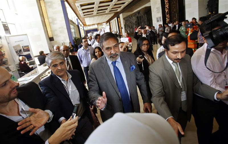 India's Commerce Minister Anand Sharma arrives at the ninth WTO Ministerial Conference in Nusa Dua, on the Indonesian resort island of Bali