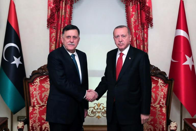 Erdogan and Fayez al-Sarraj of the Tripoli-based Government of National Accord, signed a disputed maritime jurisdiction agreement in November