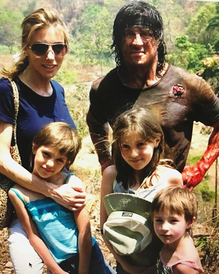 "<p>The actor got sentimental with this throwback photo taken on the set of <i>Rambo</i> with wife Jennifer Flavin and daughters Sophia, Sistine, and Scarlet. ""I absolutely love this picture… funny!"" exclaimed the action star. ""Rambo out on a Sunday picnic with the family…2008. Be sure to embrace your children because time flys faster than superman!!!"" (Photo: <a rel=""nofollow"" href=""https://www.instagram.com/p/BQOCgbnDBNX/"">Instagram</a>) </p>"