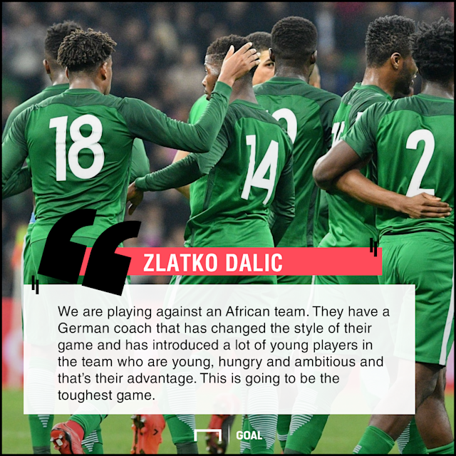 The Europeans meet with the Super Eagles for the first time in the global tourney and their boss is looking forward to a difficult tie
