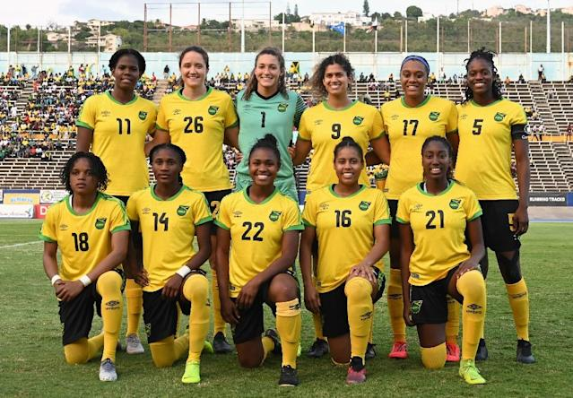 Jamaica's 'Reggae Girlz' are making their first Women's World Cup appearance (AFP Photo/Angela Weiss)