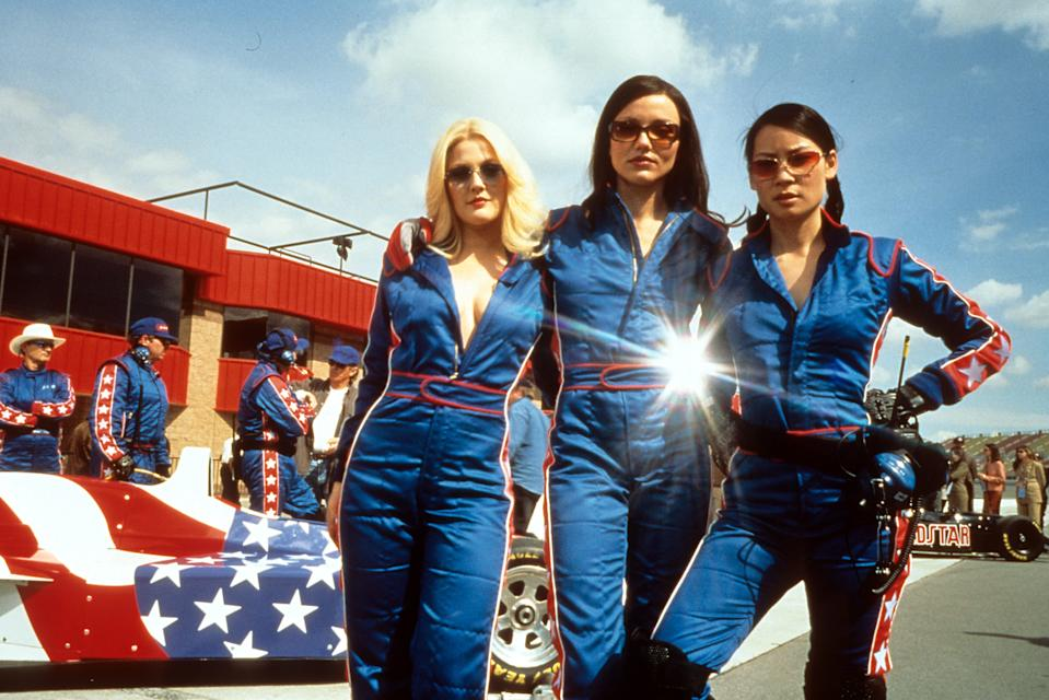 Drew Barrymore, Cameron Diaz, and Lucy Liu publicity portrait for the film 'Charlie's Angels', 2000. (Photo by Columbia Pictures/Getty Images)