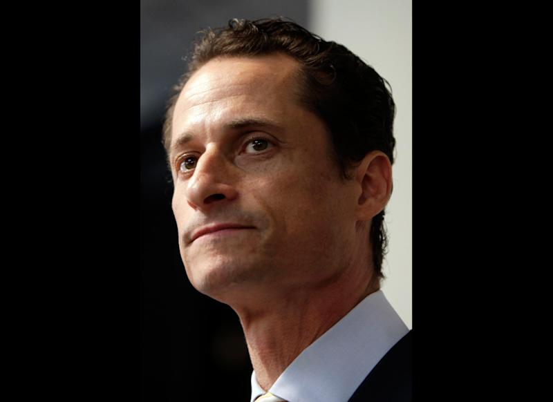 """FILE - In a June 16, 2011 file photo, Anthony Weiner speaks to the media during a news conference in New York. Former U.S. Rep. Weiner, who resigned over a sexting scandal in 2011, says he's weighing a run for New York City mayor this year. The Democrat tells New York Times Magazine """"it's now or maybe never for me."""" But he acknowledges that it's a long shot because some people """"just don't have room for a second narrative about me.""""He says he doesn't know when he'll decide on entering the race, and concedes he'd be an underdog. (AP Photo/Seth Wenig, File)"""