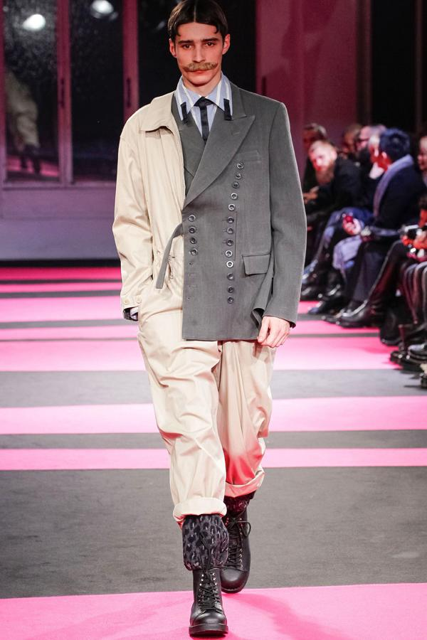 Berlin Fashion Week: Yohji Yamamoto's show featured mismatched suits ©Rex