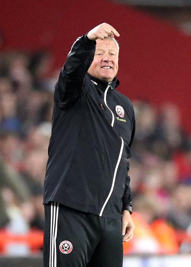 Sheffield United manager Chris Wilder pointed out the quality of the opposition (Danny Lawson/PA)