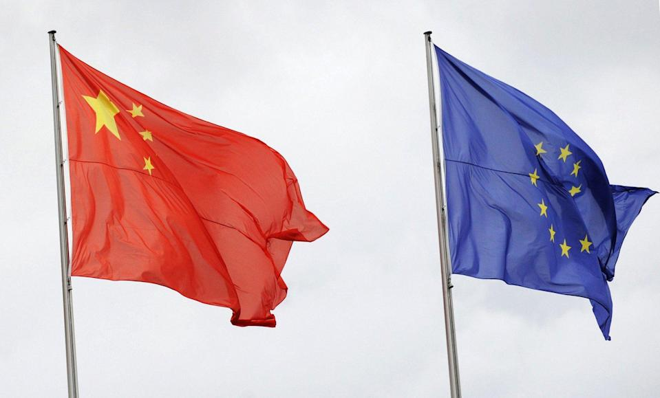 In March, the EU imposed its first significant sanctions against Chinese officials since 1989. Photo: AFP