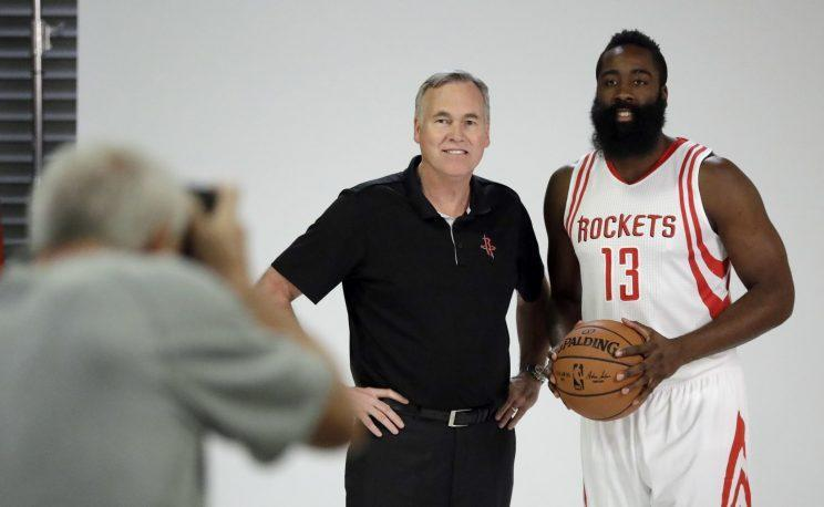 Rockets coach Mike D'Antoni and James Harden realize they need each other. (AP)