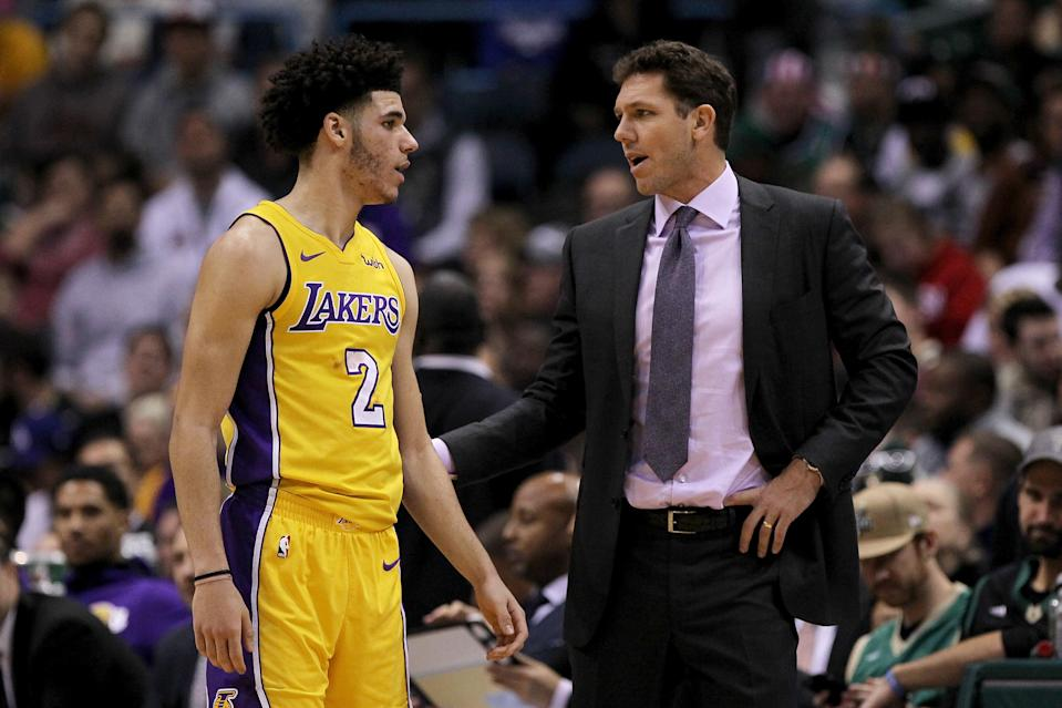 Lonzo Ball's refusal to rein in his father hasn't made life easy for coach Luke Walton or the Lakers. (Getty)