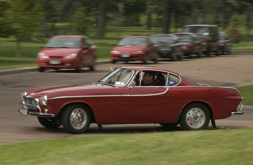 The Volvo P1800 is the classic car that has increased most in value over the last decade, according to a study. Photo: David Brewster/Star Tribune via Getty Images