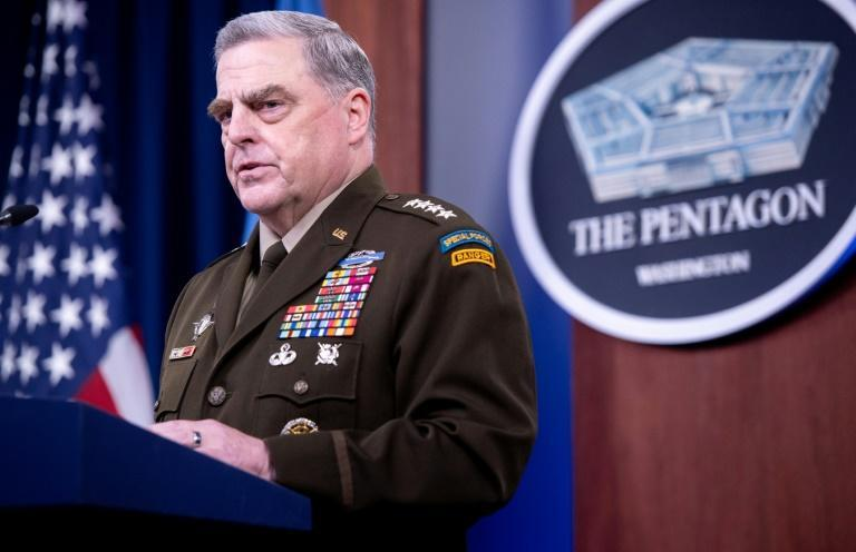 """US Army General Mark Milley, Chairman of the Joint Chiefs of Staff, sought to reassure China over the potential threat from president Donald Trump, according to a new book, """"Peril,"""" by Washington Post journalists Robert Woodward and Bob Costa. (AFP/SAUL LOEB)"""