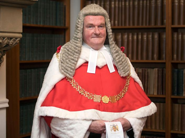 The new Lord Chief Justice, Sir Ian Burnett, at the Royal Courts of Justice: PA