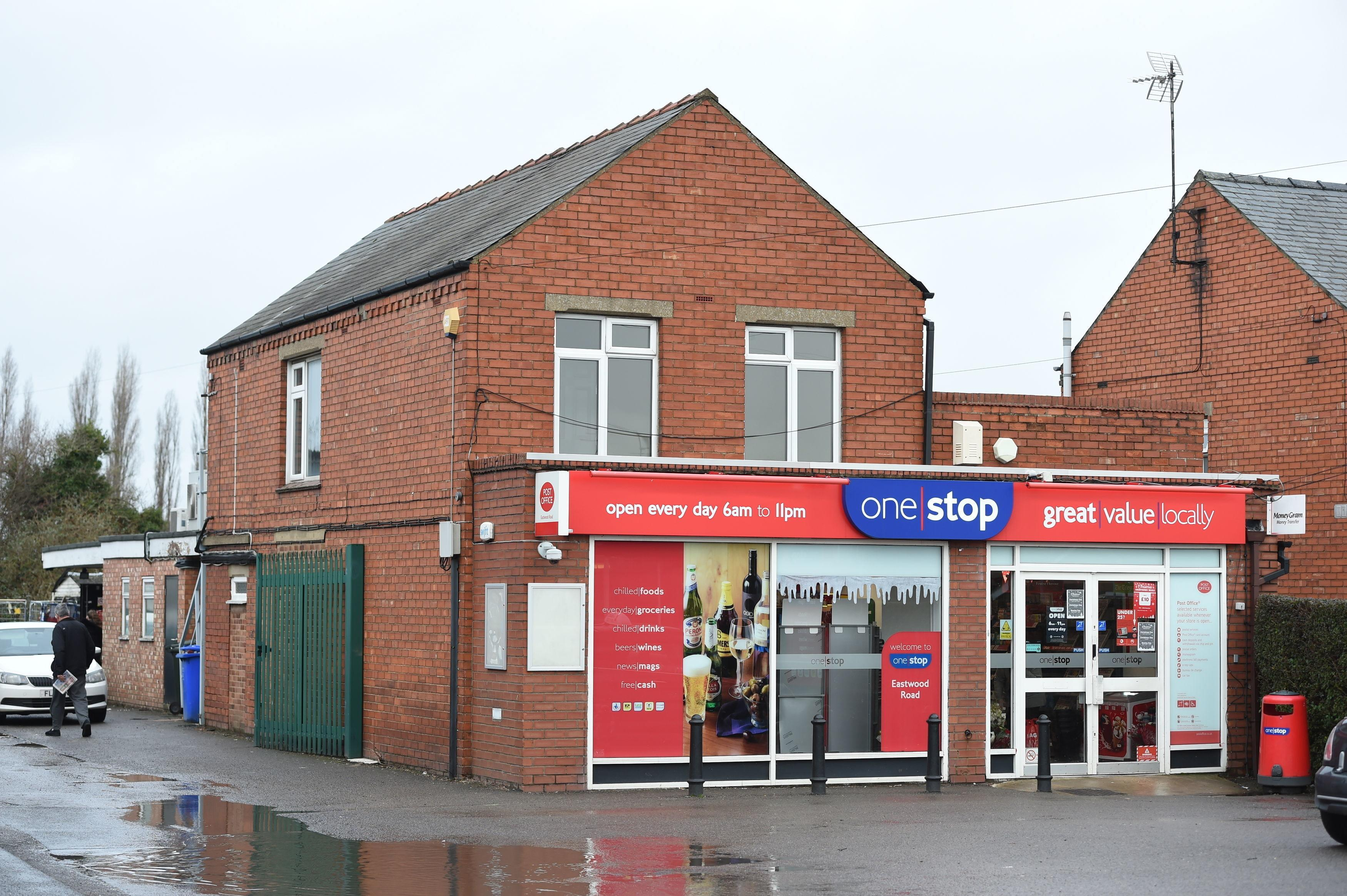 The post office in Boston, Lincolnshire, where Andrew Clark bought his winning ticket. (PA)