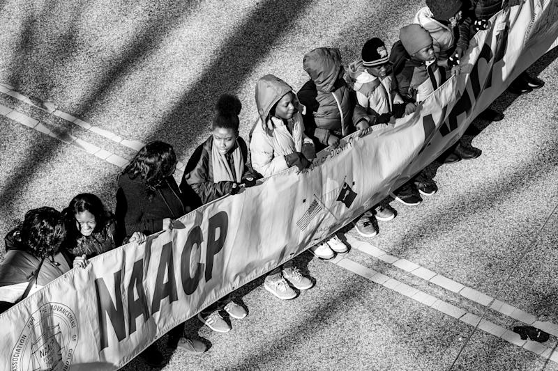 Young kids of color march to the South Carolina Statehouse from Zion Baptist Church in Columbia, South Carolina. (Photo: )