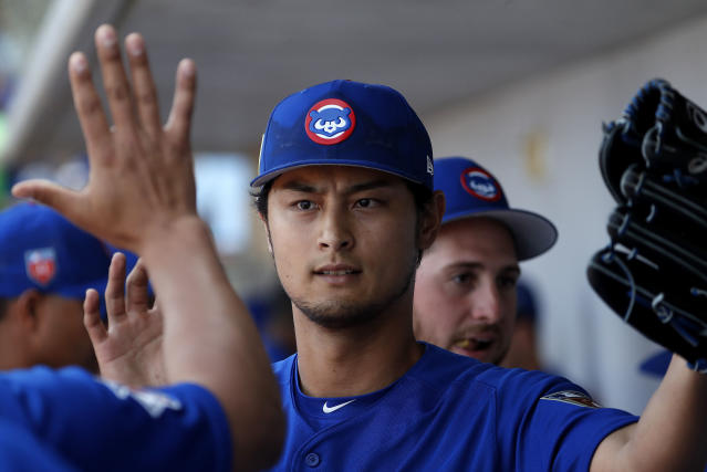 Yu Darvish has been dealing this spring, posting a 1.06 WHIP thus far with 13 Ks in 10.1 innings. (AP Photo/Matt York)