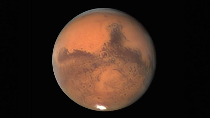 Mars pictured by Damian Peach on 30 September