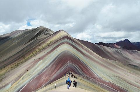 Peru's Rainbow Mountain - Credit: GETTY