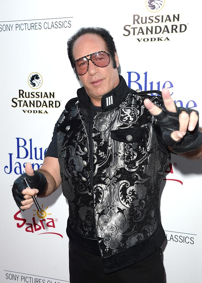 BEVERLY HILLS, CA - JULY 24: Comedian Andrew Dice Clay arrives at the premiere of 'Blue Jasmine' hosted by AFI & Sony Picture Classics at AMPAS Samuel Goldwyn Theater on July 24, 2013 in Beverly Hills, California. (Photo by Jason Merritt/Getty Images)