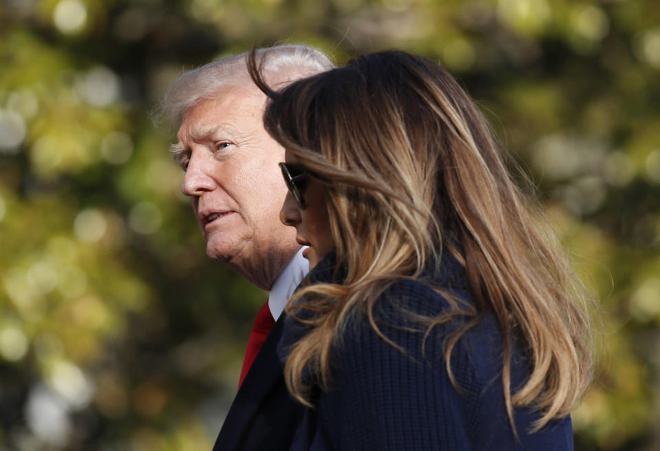 <em>The former Playboy Bunny claims she had an affair with the President when he had been married to Melania for two years (AP)</em>