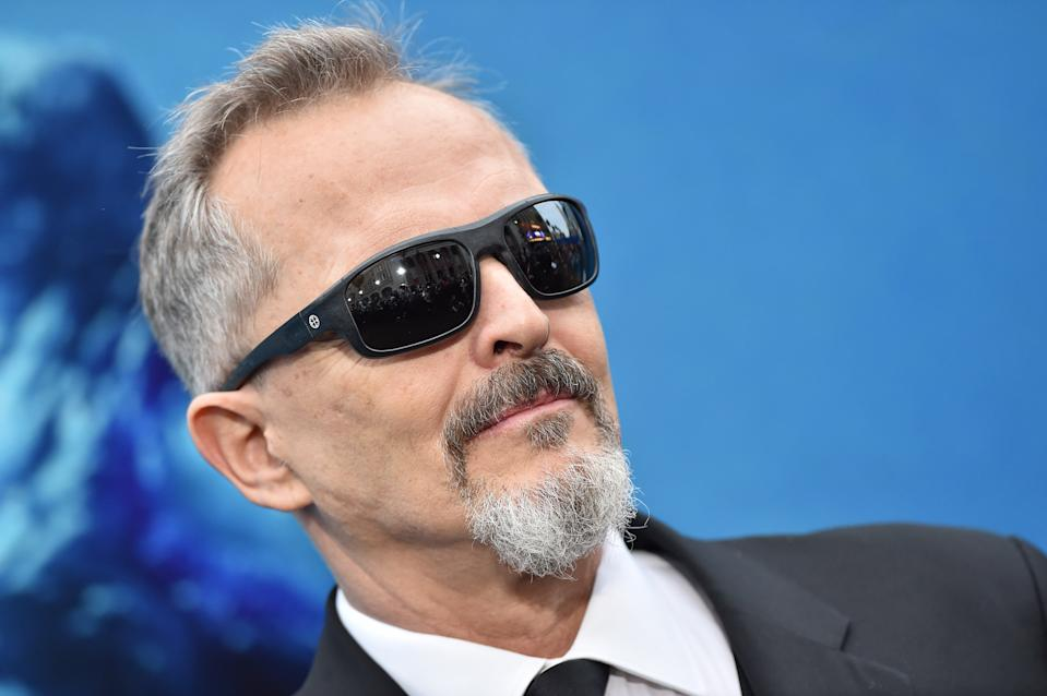 """HOLLYWOOD, CALIFORNIA - MAY 18: Miguel Bose attends the premiere of Warner Bros. Pictures and Legendary Pictures' """"Godzilla: King of the Monsters"""" at TCL Chinese Theatre on May 18, 2019 in Hollywood, California. (Photo by Axelle/Bauer-Griffin/FilmMagic)"""