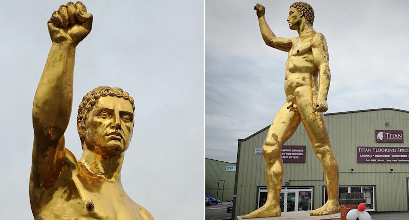 Wigan gold statue