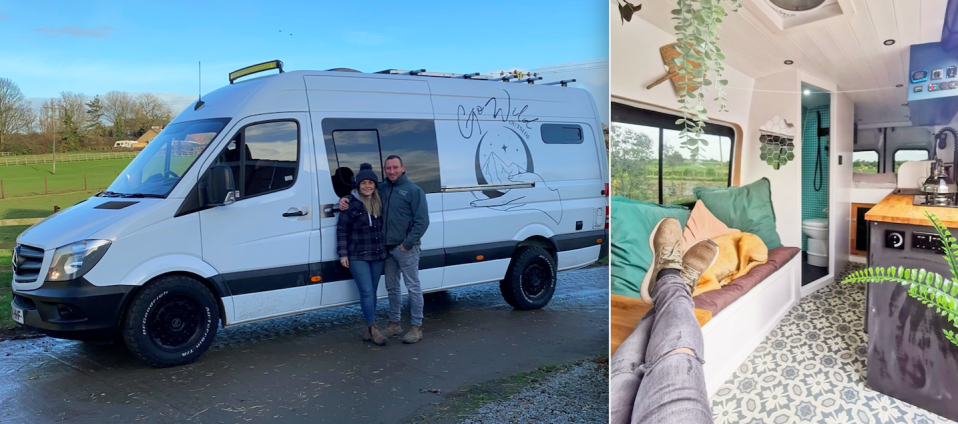 Sarah and Robert Gray spent thousands on converting a campervan into their very own portable hotel. (Caters)