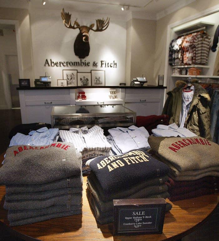 An Abercrombie & Fitch store from the early 2000s