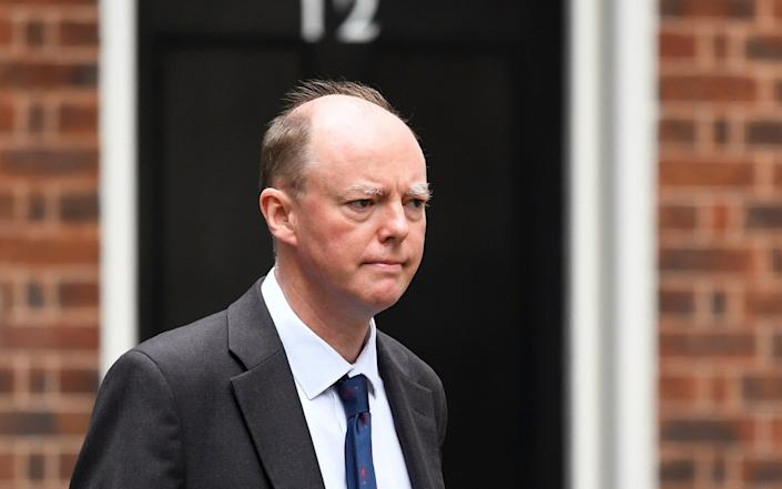 Chief Medical Officer for England Chris Whitty is seen outside Downing Street in London, Britain - Toby Melville/Reuters