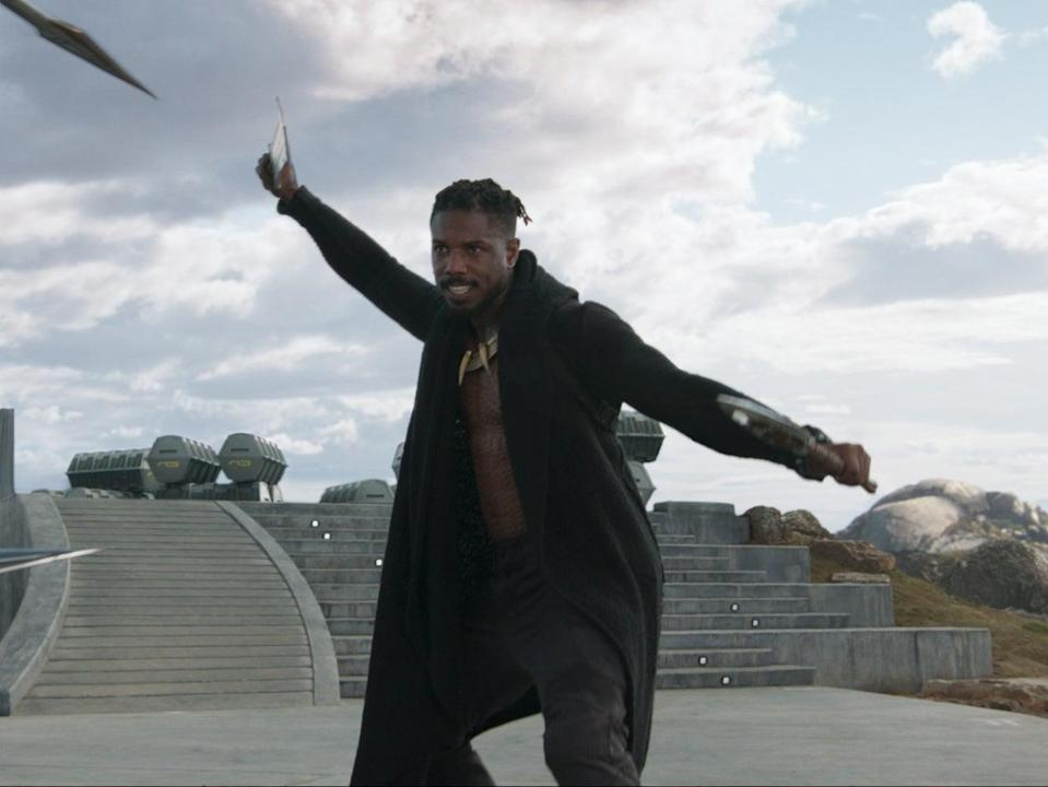 Michael B Jordan in Black Panther (Marvel Studios)
