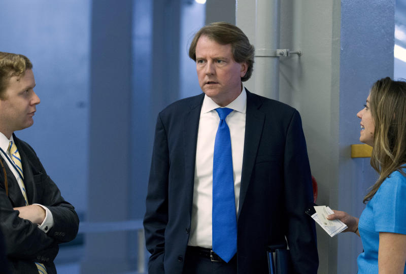 Top Dem Swalwell: Exiting White House counsel McGahn coached aides on testimony