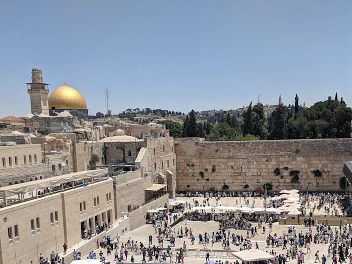 The Western Wall, Dome of the Rock, Temple Mount (Jerusalem, Israel)