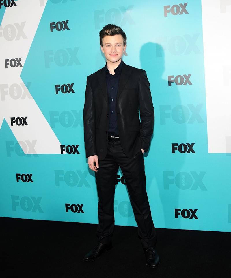 "Chris Colfer (""Glee"") attends the Fox 2012 Upfronts Post-Show Party on May 14, 2012 in New York City."