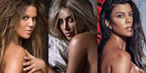 """<p class=""""body-dropcap"""">Kim isn't the only Kardashian who is proud to pose nude; the Kardashians and nudity are more or less synonymous <a href=""""https://www.marieclaire.com/celebrity/a32714179/kardashians-net-worth"""" rel=""""nofollow noopener"""" target=""""_blank"""" data-ylk=""""slk:at this point."""" class=""""link rapid-noclick-resp"""">at this point.</a> The sisters have never shied away from baring all and, honestly, that's one of the things we love most about them. If nothing else, the Kardashians will go down in history as crusaders for nakedness and free-ers of nipples. The human body is beautiful, and no single family has done more to celebrate that beauty than the Kardashian-Jenners. They celebrate that beauty to promote social causes (like Khloé's iconic """"I'd rather go naked than wear fur"""" ad for PETA). They celebrate that beauty to promote their own projects and brands (like any time Kim releases a new product, pretty much). They celebrate that beauty just for the sake of it when they're having awesome, body confident days. </p><p>But here's the thing: When the Kardashian sisters go nude, they don't just hint at nakedness, they <em>go for it</em>. The Kardashian-Jenners (Khloé, Kim, Kourtney, Kendall, and Kylie, of course, but also including matriarch and momager supreme Kris Jenner from time to time) have posed in various states of undress countless times over the years. Those pictures have appeared on billboards, in the pages of glossy magazines, and, most frequently of all, on the women's own, expertly curated Instagram grids for their millions of followers. Here, we catalog some of the Kardashian and Jenner ladies' most epic naked moments of all time. <br></p>"""